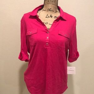 NWT Croft & Barrow Top Color Fushia